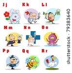 joyful cartoon alphabet... | Shutterstock .eps vector #79383640