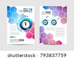 brochure template  flyer design ... | Shutterstock .eps vector #793837759
