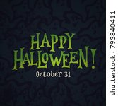 """happy halloween"" hand lettered ... 