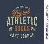 original athletic goods t shirt ... | Shutterstock .eps vector #793840447