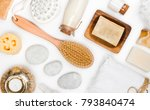 various spa and body care... | Shutterstock . vector #793840474