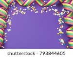 ultra violet background with... | Shutterstock . vector #793844605