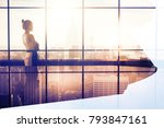 side view of thoughtful young... | Shutterstock . vector #793847161