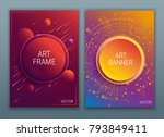 bright abstract vector covers... | Shutterstock .eps vector #793849411