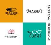 glasses logo design | Shutterstock .eps vector #793855759