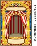 carnival poster template.... | Shutterstock .eps vector #793857571