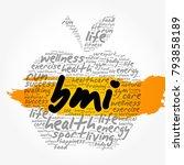 bmi   body mass index  apple...   Shutterstock . vector #793858189