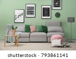 interior of living room with...   Shutterstock . vector #793861141