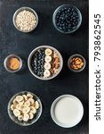 oatmeal with blueberries ... | Shutterstock . vector #793862545