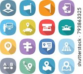 flat vector icon set   pointer... | Shutterstock .eps vector #793863325