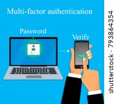 two steps authorization concept.... | Shutterstock .eps vector #793864354