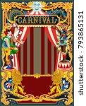 carnival poster template.... | Shutterstock .eps vector #793865131