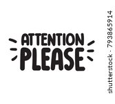 attention please. vector hand... | Shutterstock .eps vector #793865914