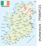 republic of ireland vector map... | Shutterstock .eps vector #793869121