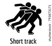 shorttrack icon. simple... | Shutterstock .eps vector #793873171