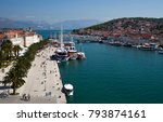 view of the harbor of the... | Shutterstock . vector #793874161