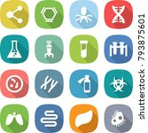 flat vector icon set   molecule ... | Shutterstock .eps vector #793875601
