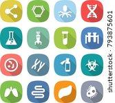 flat vector icon set   molecule ... | Shutterstock .eps vector #793875601