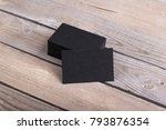 photo of black business cards.... | Shutterstock . vector #793876354