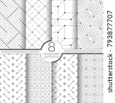 set of vector seamless patterns.... | Shutterstock .eps vector #793877707