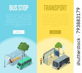 bus waiting station isometric... | Shutterstock .eps vector #793883179