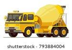 concrete mixer truck in modern... | Shutterstock .eps vector #793884004