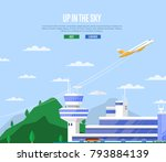 up in the sky concept with... | Shutterstock .eps vector #793884139