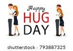 couple hug. flat vector...   Shutterstock .eps vector #793887325