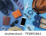 flat lay image of accessory... | Shutterstock . vector #793891861