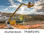 telescopic elevator in a... | Shutterstock . vector #793892491