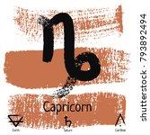 capricorn. zodiac sign... | Shutterstock .eps vector #793892494