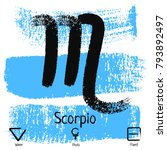 scorpio. zodiac sign pictogram. ...   Shutterstock .eps vector #793892497