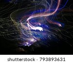 light painting  painting with... | Shutterstock . vector #793893631