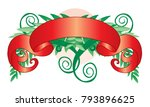red tapes with green vegetation | Shutterstock .eps vector #793896625