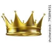 colored realistic royal crown... | Shutterstock .eps vector #793896931