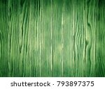 aged green wood slats wall... | Shutterstock . vector #793897375