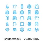 clothing  fasion flat line... | Shutterstock .eps vector #793897807