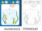 preschool worksheet for... | Shutterstock .eps vector #793900165