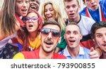 happy sport supporters having... | Shutterstock . vector #793900855