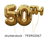 gold number 50 foil birthday... | Shutterstock . vector #793902067
