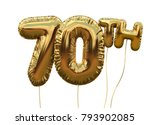 gold number 70 foil birthday... | Shutterstock . vector #793902085