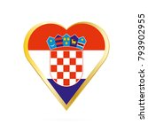 flag of croatia in the shape of ... | Shutterstock .eps vector #793902955