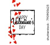 valentines day card with red... | Shutterstock .eps vector #793905625