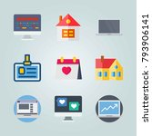 icon set about digital... | Shutterstock .eps vector #793906141