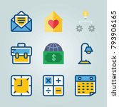 icon set about digital... | Shutterstock .eps vector #793906165