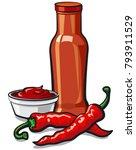 illustration of chilli tomato... | Shutterstock .eps vector #793911529