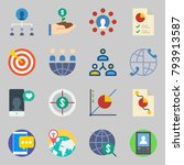icons set about marketing. with ... | Shutterstock .eps vector #793913587