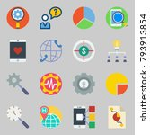 icons set about marketing. with ... | Shutterstock .eps vector #793913854