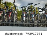cycling and biking. bike stands ...   Shutterstock . vector #793917391