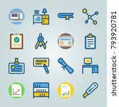 icon set about education and... | Shutterstock .eps vector #793920781